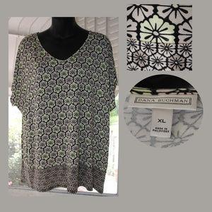 DANA BUCHMAN Kimono Cap Sleeve Top Size XL